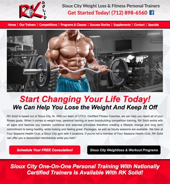 RK Solid - Personal Training / Weightloss